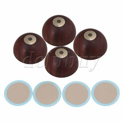 4xRed Rosewood Shock Foot Nail Mat Speaker Spike Isolation Pad for Audio