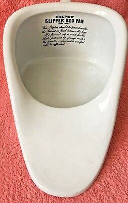"""VINTAGE """"THE NEW SLIPPER BED PAN"""" c1920s - GREAT CONDITION!"""