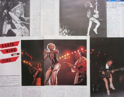 Earth, Wind & Fire AC/DC ANGUS YOUNG 1980 CLIPPING JAPAN MAGAZINE Y5 15C6 11PAGE