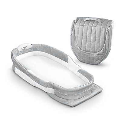 Afterglow Portable Infant Sleeper With Light For Easy Checks - Misty Dandelions