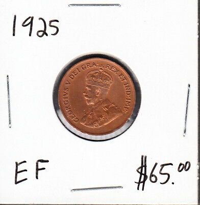 1925 Canada - 1 Cent - Extra Fine - Key Date - AA43