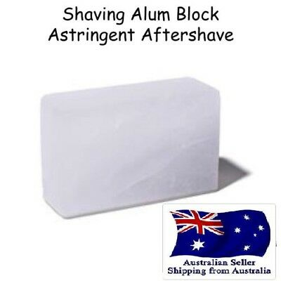 SHAVING ALUM BLOCK ASTRINGENT AFTER SHAVE STONE 100g x2  Au seller Fast ship