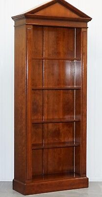 Lovely Large Solid Cherrywood Grange France Steeple Arched Top Library Bookcase