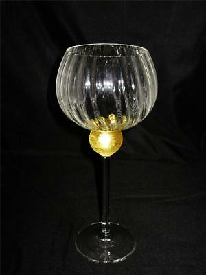 Union Street Glass MANHATTAN GOLD Bordeaux Glass, Red Wine, Gold Ball Stem Optic