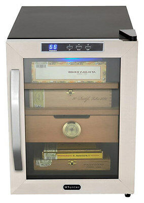 Whynter - 1.2 Cu. Ft. Cigar Cooler Humidor - Black