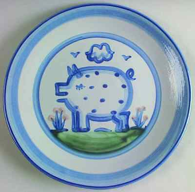 M A Hadley COUNTRY SCENE BLUE Pig Dinner Plate 5876435