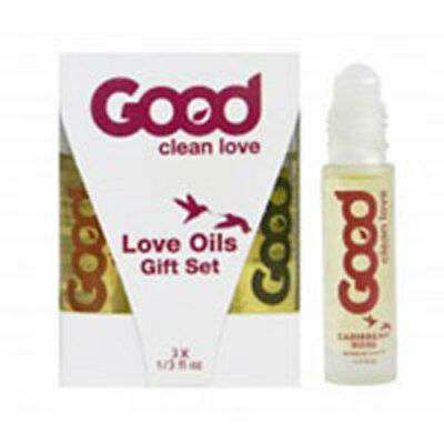 Love Oil Gift Set 3 Pc by Good Clean Love