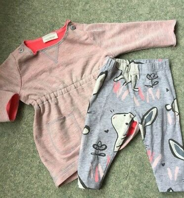 ❤️ NEXT ❤️ Baby Girls Bunny Outfit Tunic Top With Leggings Up To 3 Months
