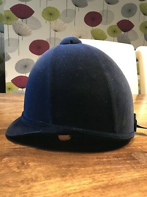 Charles Owen H2000 Navy Square Riding Hat 7 (57cm)