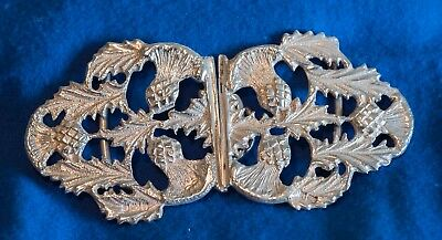 Antique Silver Nurses Buckle with Thistles