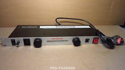 PHONIC PPC9000E 10-OUTLET Power Conditioner WITH LIGHT MODULES AND SURGE PROTECT