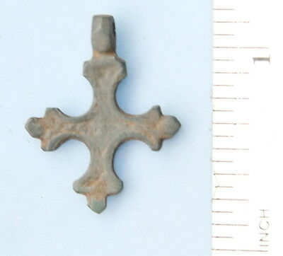 Ancient Old Ornament Bronze Cross (FR21)