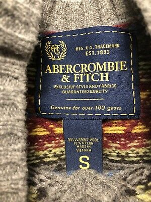 Vintage Abercrombie & Fitch Lamb's wool sweater vest Pull Over Small