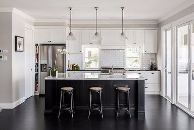 *7 Ft Black Kitchen Island With White Quartz Counter Top. Custom Made/Color