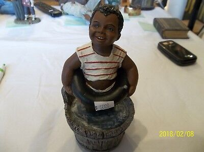 """AS-IS ALL GODS CHILDREN """"BEAN"""" MARTHA HOLCOMBE FIGURINE #73 CLEAR WATER  jdc"""