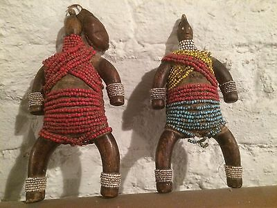 old Voodoo Puppe Doll Fetish Africa Art 2 Stück, 2 Pcs