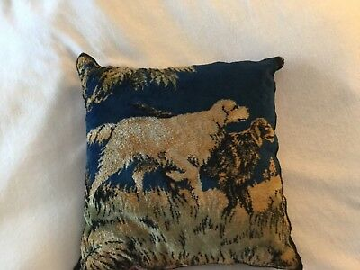 Antique Victorian pillow cushion with two Dogs