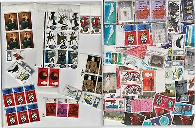 100+ Unsorted unmounted (MNH) pre-decimal stamps.Singles,blocks,strips & pairs.
