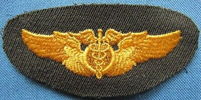 WWII US AAF full size, embroidered flight surgeon wing, removed from scrapbook