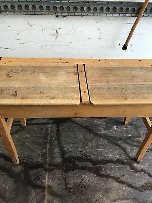 Old Vintage Double School Desk
