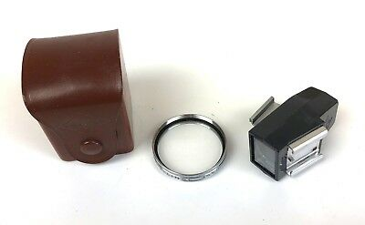 Vintage Agfa Natarix 35.5mm Close-Up Lens & w/Parallax Viewfinder+Case-NICE