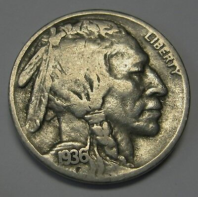 1936-S Buffalo Nickel Grading in the VG Range Nice Original Coins