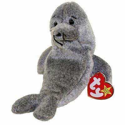 TY Beanie Babies SLIPPERY the Gray Seal NEW Mint Tags 1999 MWMTs Plush Grey