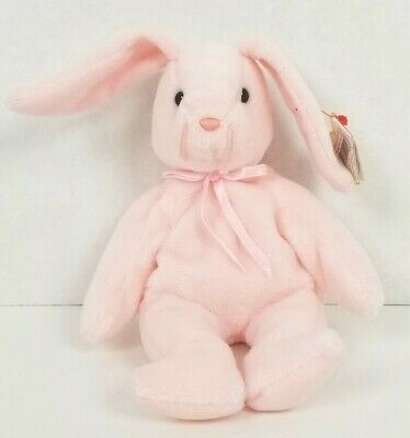 """TY Beanie Babies /""""HOPPITY/"""" the Pink Easter Bunny RABBIT GIFT! RETIRED MWMTs"""