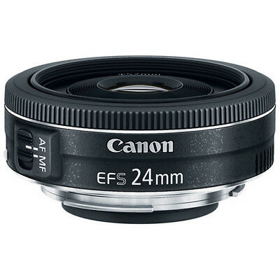 Canon EF-S 24mm f/2.8 STM Wide Angle Lens for Canon DSLR Cameras - NEW!