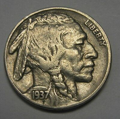 1937 Buffalo Nickel in the FINE to VF Range Nice Original Coins DUTCH AUCTION
