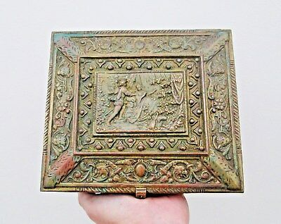 Ornate 19th Century Music Box Case - Detailed Decoration In The Classical Style