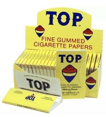 Top Fine Gummed Cigarette Rolling Papers 24 Booklets