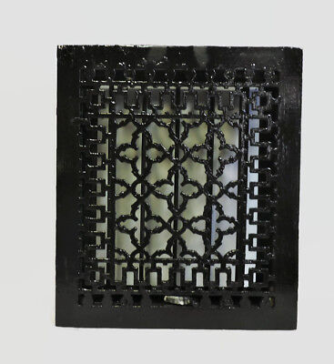 Antique Cast Iron Heating Grate Register Vent Floor Wall Unique Design 14 X 12