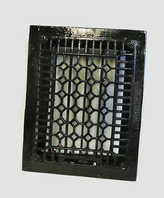 Antique Cast Iron Heating Grate Register Vent Floor Wall Ornate 14 X 11 B