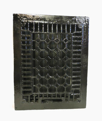 Antique Cast Iron Heating Grate Register Vent Floor Wall Ornate 14 X 11 C