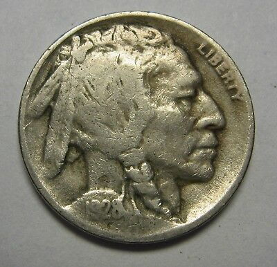 1928-D Buffalo Nickel in the VG Range Nice Original Coins DUTCH AUCTION