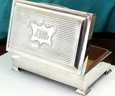 575g Solid Silver Cig / Desk Top/ Jewellery Box - Bham 1921 - Joseph Gloster Ltd