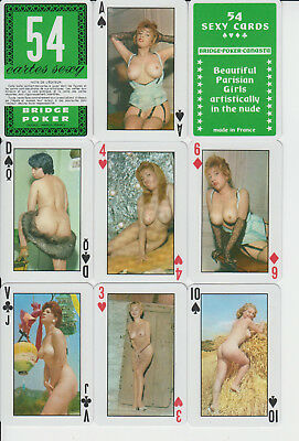 Altes Vintage sexy Pin-up Ducale France  Playing Cards,52 + 4 Joker unbespielt