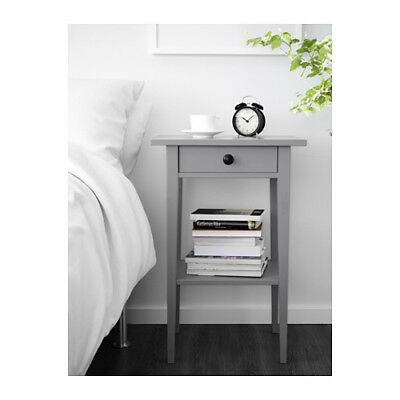 ikea kommode ablagetisch grau hemnes nachttisch flurtisch beistelltisch neu eur 39 97. Black Bedroom Furniture Sets. Home Design Ideas