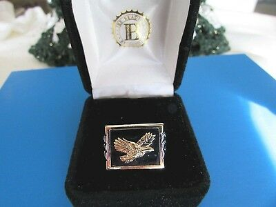 Men's Onyx Ring  Wings of Glory  Bald Eagle SS 925  $299 Value Bradford Exchange