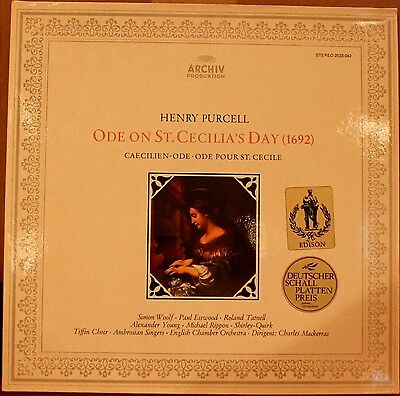 ARCHIV LP 2533-042: PURCELL - Ode on St. Cecilia's Day - MACKERRAS, 1979 GERMANY