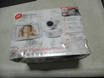 "Motorola 5"" Portable Video Baby Monitor ‑ MBP36XL, White"