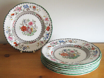 "7 x Copeland Spode Vintage 'Chinese Rose' 16cm/6.25"" Tea Plates"