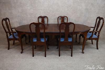 PENNSYLVANIA HOUSE Solid Cherry Dining Table 6 Chairs 2 Leaves American Made