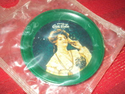 1974 Coca Cola Metal Coaster   New in Package