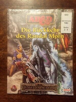 Vr3 Die Rückkehr Des Randal Morn Advanced Dungeons & Dragons Ad&d Ovp Folie
