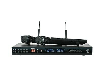 Truvoice DWM-900 Dual Channel UHF Handheld Wireless Microphone System (Black)