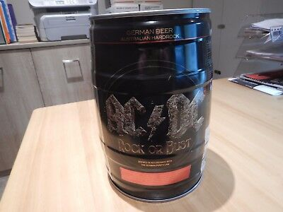 Rare , AC / DC Highly COLLECTIBLE - Rock or Bust MINI BEER KEG ( Un - opened )