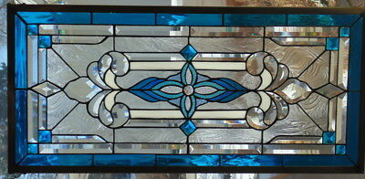 Stained Glass window hanging 34 X 16