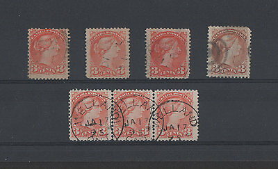 "Canada, ""Small Queen Issue"", 3 cent Variations."